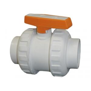 Кран шаровой TUM PLASTIK (для агрессивных сред)