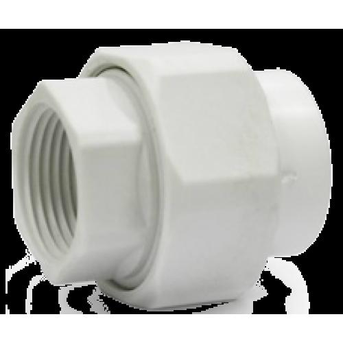 Муфта пластиковая разъемная (внутренний разъем) белая